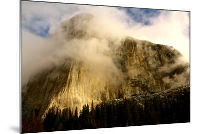"""Clouds Forming Over The Famous """"El Captain"""" In Yosemite National Park-Nicholas Giblin-Mounted Photographic Print"""
