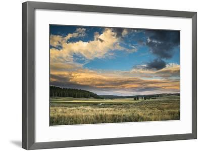 A Sunset Sky Hangs Over The Yellowstone River In The Hayden Valley, Yellowstone National Park-Bryan Jolley-Framed Photographic Print