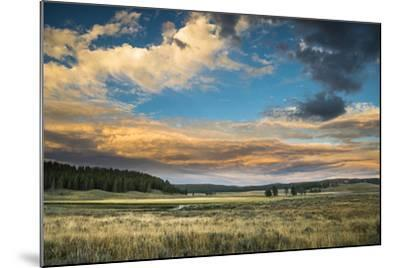 A Sunset Sky Hangs Over The Yellowstone River In The Hayden Valley, Yellowstone National Park-Bryan Jolley-Mounted Photographic Print