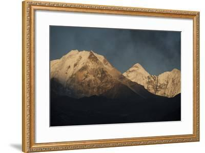 Smoke From A Village Home Passes Over The Mountains In Dingboche Nepal-Rebecca Gaal-Framed Photographic Print