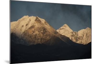 Smoke From A Village Home Passes Over The Mountains In Dingboche Nepal-Rebecca Gaal-Mounted Photographic Print