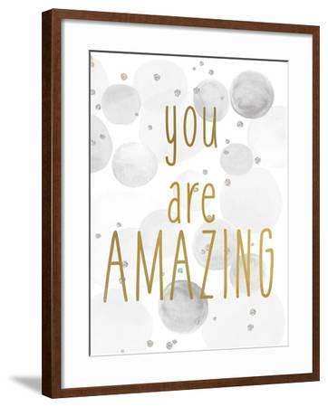 You Are Amazing BW-Kimberly Allen-Framed Art Print