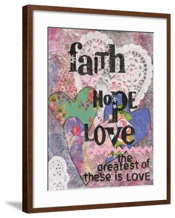 Faith Hope Love-Cherie Burbach-Framed Art Print