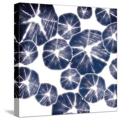 Blue Wood Pile-Jace Grey-Stretched Canvas Print