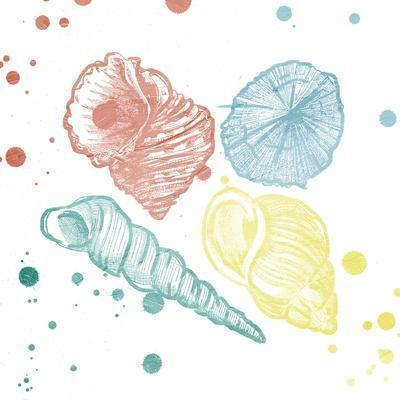 Soft Color Splatter Shells Mate-Jace Grey-Framed Art Print