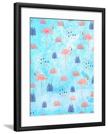 Flamingo Dance-Kimberly Allen-Framed Art Print