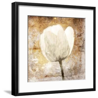 Golden White Greige Mate-Jace Grey-Framed Art Print