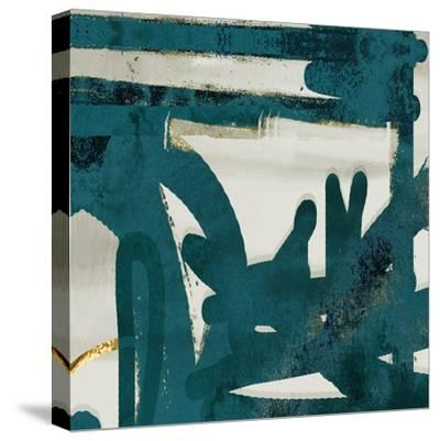 Teal and Flare Square A-Cynthia Alvarez-Stretched Canvas Print