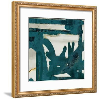 Teal and Flare Square A-Cynthia Alvarez-Framed Art Print