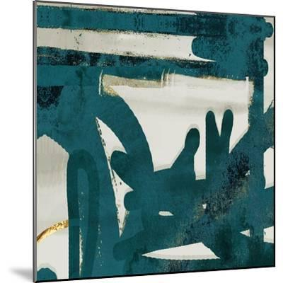 Teal and Flare Square A-Cynthia Alvarez-Mounted Art Print