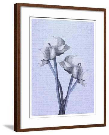Denim Floral 1-Kimberly Allen-Framed Art Print