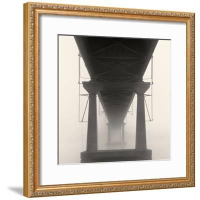 Bridge in Fog-Nicholas Bell-Framed Photo
