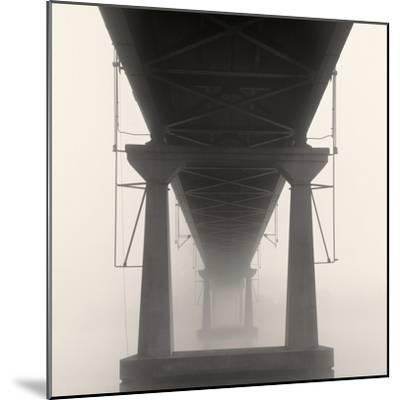 Bridge in Fog-Nicholas Bell-Mounted Photo