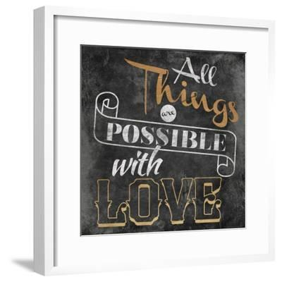 All Things are Possible with Love-Jace Grey-Framed Art Print