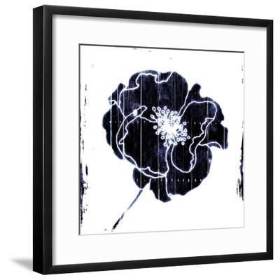 Blue Flower-Jace Grey-Framed Art Print