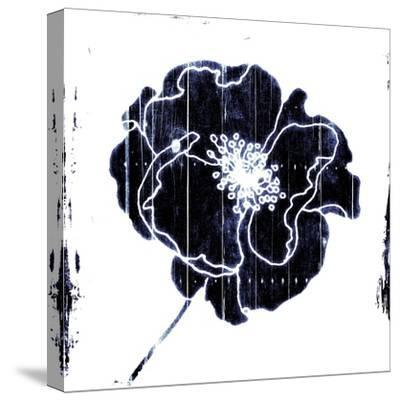 Blue Flower-Jace Grey-Stretched Canvas Print