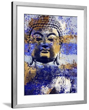 Blue Gold Prayer-Milli Villa-Framed Art Print