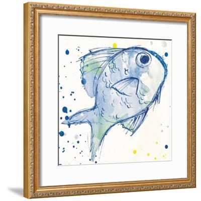 Minimal Sketch Fish-Milli Villa-Framed Art Print