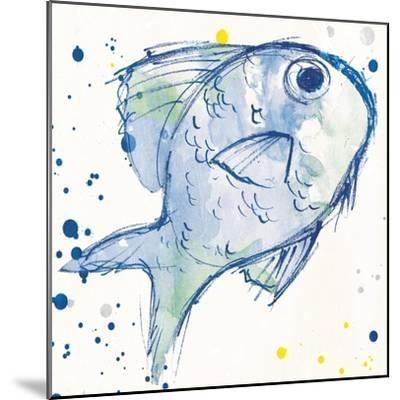 Minimal Sketch Fish-Milli Villa-Mounted Art Print