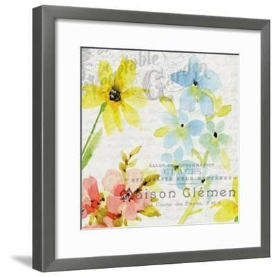 French Floral 2-Kimberly Allen-Framed Art Print