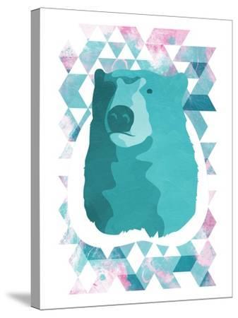 Cotton Candy Triangular Bear-OnRei-Stretched Canvas Print