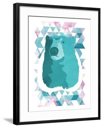 Cotton Candy Triangular Bear-OnRei-Framed Art Print