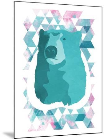 Cotton Candy Triangular Bear-OnRei-Mounted Art Print