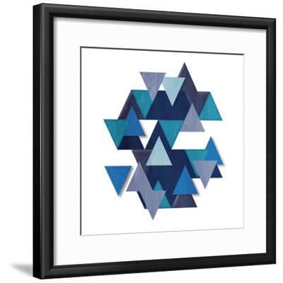 Floating Blueberry Gems-OnRei-Framed Art Print