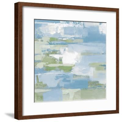 Urban Walkway III Blue and Green-Silvia Vassileva-Framed Art Print
