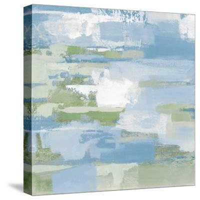 Urban Walkway III Blue and Green-Silvia Vassileva-Stretched Canvas Print