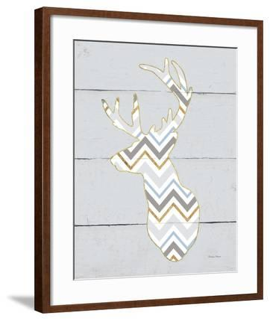Floral Deer II Masculine-Cleonique Hilsaca-Framed Art Print