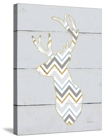 Floral Deer II Masculine-Cleonique Hilsaca-Stretched Canvas Print