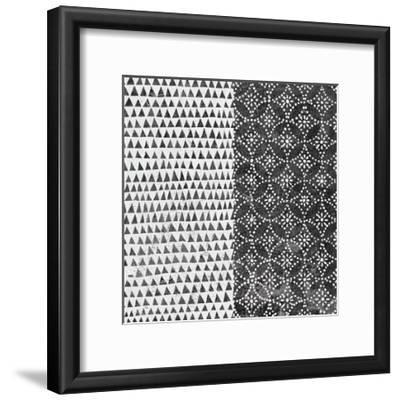 Maki Tile IV BW-Kathrine Lovell-Framed Art Print