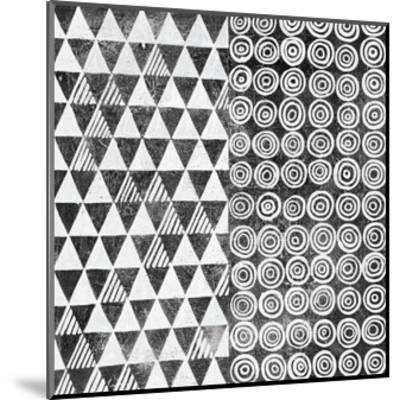 Maki Tile I BW-Kathrine Lovell-Mounted Art Print