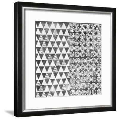 Maki Tile I BW-Kathrine Lovell-Framed Art Print