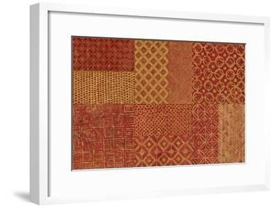 Maki Tile XVII Spice-Kathrine Lovell-Framed Art Print