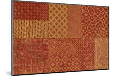 Maki Tile XVII Spice-Kathrine Lovell-Mounted Art Print
