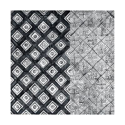 Maki Tile II BW-Kathrine Lovell-Framed Art Print