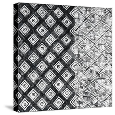 Maki Tile II BW-Kathrine Lovell-Stretched Canvas Print