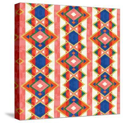 Wild Wood Tiles IV Bright--Stretched Canvas Print