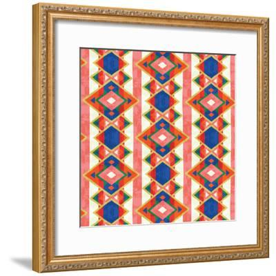 Wild Wood Tiles IV Bright--Framed Art Print