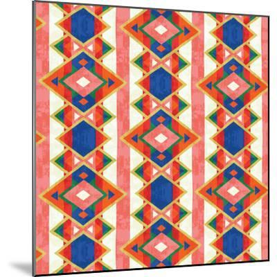 Wild Wood Tiles IV Bright--Mounted Art Print