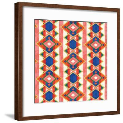 Wild Wood Tiles IV Bright--Framed Art Print