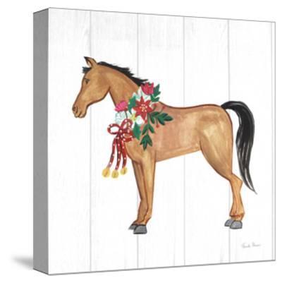 Holiday Farm Animals II-Farida Zaman-Stretched Canvas Print