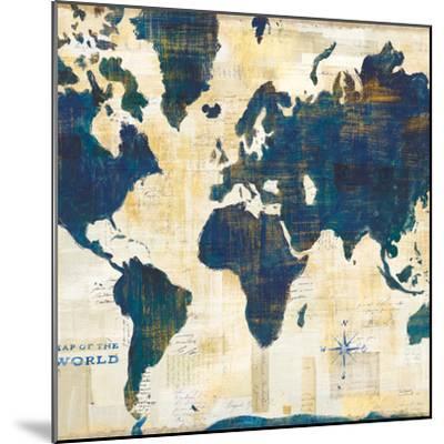 World Map Collage v2-Sue Schlabach-Mounted Art Print