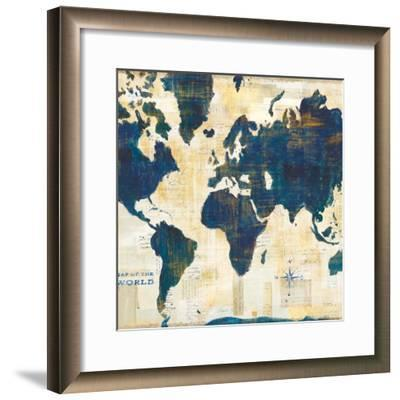 World Map Collage v2-Sue Schlabach-Framed Art Print