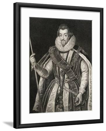 Portrait of Robert Cecil, 1st Earl of Salisbury (1563-1612), from 'Lodge's British Portraits', 1823-English School-Framed Giclee Print