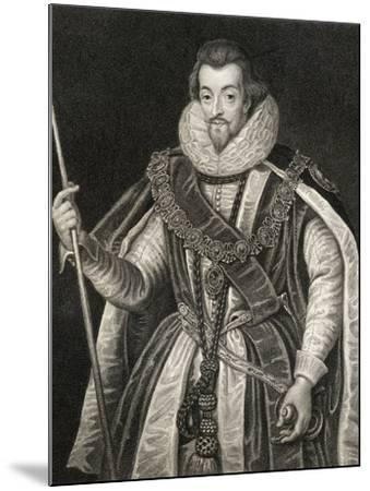 Portrait of Robert Cecil, 1st Earl of Salisbury (1563-1612), from 'Lodge's British Portraits', 1823-English School-Mounted Giclee Print