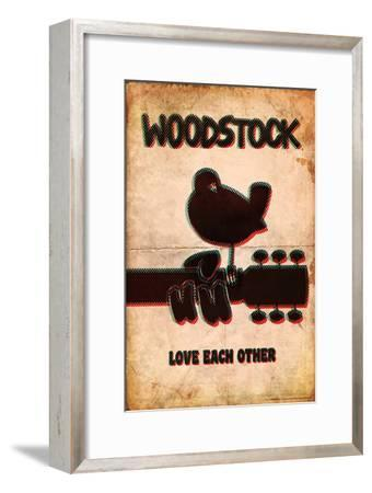 Woodstock - Love Each Other--Framed Art Print
