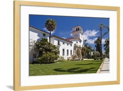 Beautiful Courthouse Santa Barbara California-George Oze-Framed Photographic Print